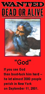 God wanted-poster by Darwin Bedford